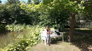 Sitting on Bench